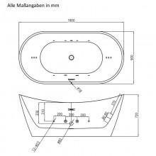 Ovalo Plus - Badewanne - Freistehender Whirlpool-11