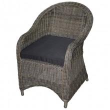 Polyrattan Sessel *KUBO* natur/braun