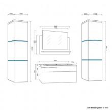 Badmöbel Wangerooge BIG XL - Weiss (HB)-9