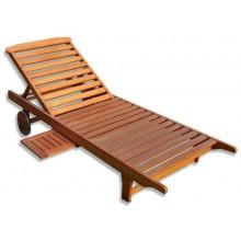 Sonnenliege FSC Eukalyptus mit integriertem Tisch