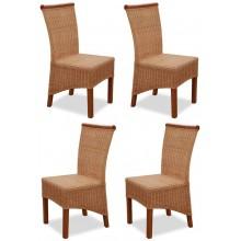 4er Set Korbstühle *Larissa* honig