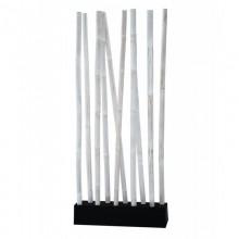 LIO Bambus Raumteiler weiss/schwarz