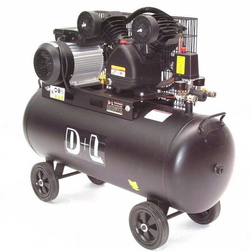 Druckluftkompressor V-Zylinder Kessel 100 Liter 10bar