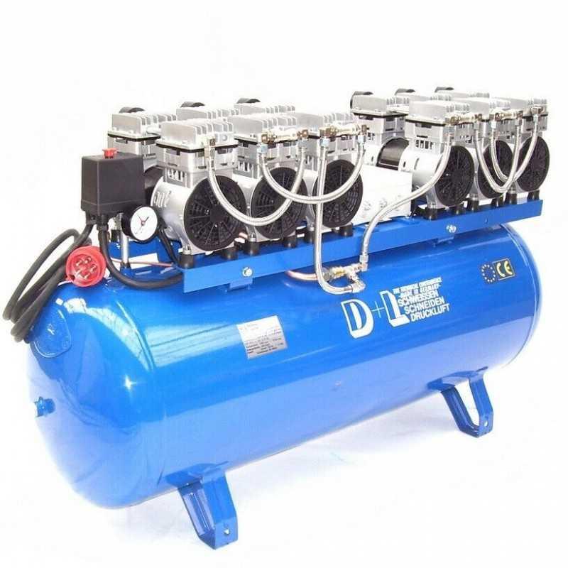 Druckluftkompressor Silent LEISELÄUFER V12 540/8/270W ölfrei 6PS