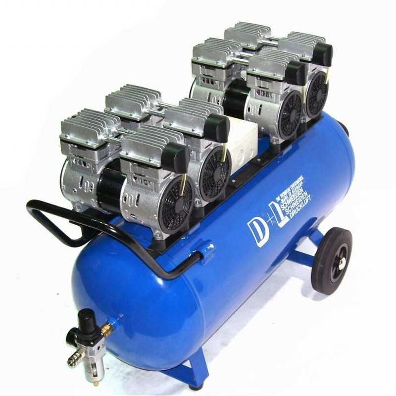 Druckluftkompressor Silent LEISELÄUFER V8 360/8/90W Ölfrei 90L 4PS