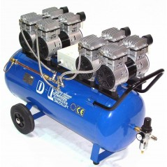 Druckluftkompressor Silent LEISELÄUFER V8 360/8/90W Ölfrei 90L 4PS-5