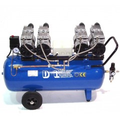Druckluftkompressor Silent LEISELÄUFER V8 360/8/90W Ölfrei 90L 4PS-7
