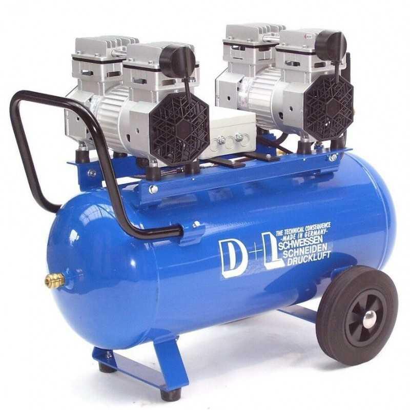Druckluftkompressor Silent LEISELÄUFER V4 180/8/50W Ölfrei 50L 2PS
