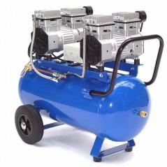 Druckluftkompressor Silent LEISELÄUFER V4 180/8/50W Ölfrei 50L 2PS-7