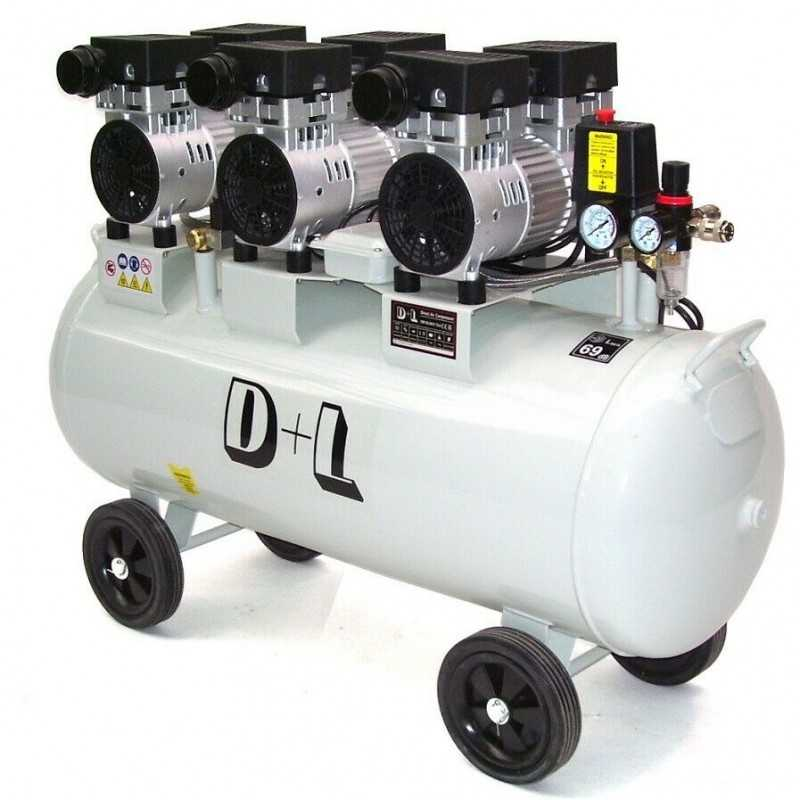 Druckluftkompressor 100L Silent LEISELÄUFER