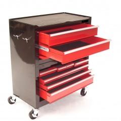 Werkstattwagen 8 Schubladen mit Werkzeugkiste-9