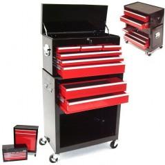 Werkstattwagen 8 Schubladen mit Werkzeugkiste-1