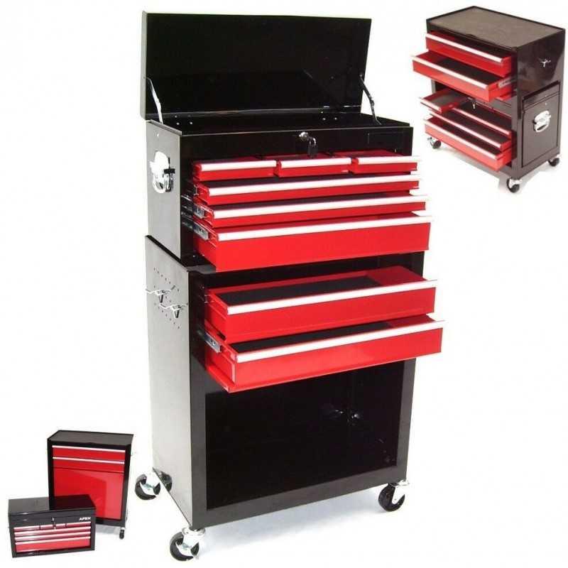 Werkstattwagen 8 Schubladen mit Werkzeugkiste