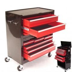 Werkstattwagen 8 Schubladen mit Werkzeugkiste-13