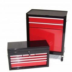 Werkstattwagen 8 Schubladen mit Werkzeugkiste-17