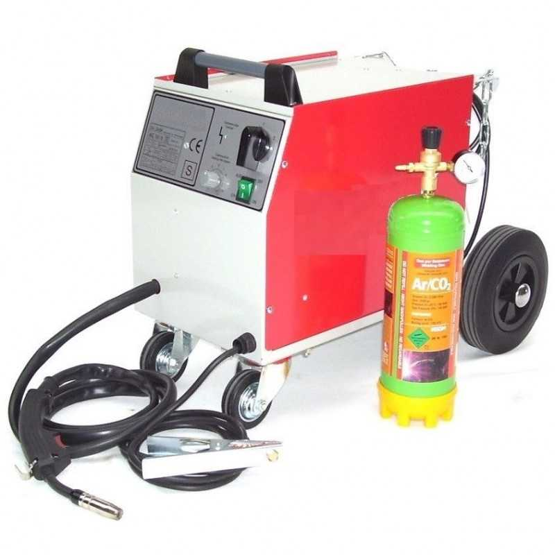 Schutzgasschweissgerät MIG/MAG 161 230V + Schutzgasflasche 2.2L Mischgas