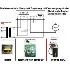 24V Drahtvorschub Regelung kompletter Schweissdrahtantrieb-1