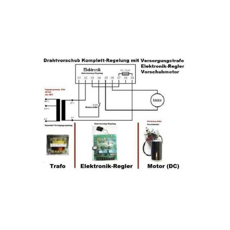 24V Drahtvorschub Regelung kompletter Schweissdrahtantrieb