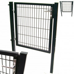 Quadratrohr Doppelstabmatten Gartentor 100x160cm-1