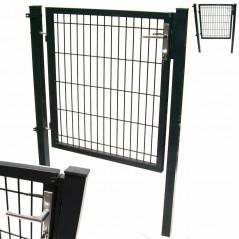 Quadratrohr Doppelstabmatten Gartentor 100x160cm-11
