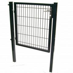 Quadratrohr Doppelstabmatten Gartentor 100x160cm-3