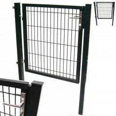 Quadratrohr Doppelstabmatten Gartentor 100x100cm-1