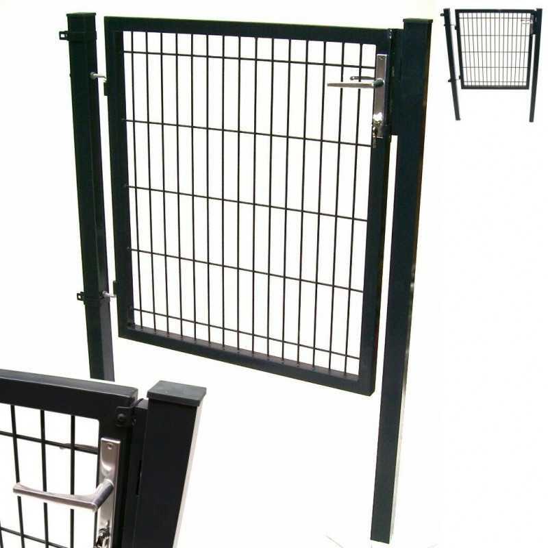 Quadratrohr Doppelstabmatten Gartentor 100x100cm