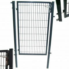 Quadratrohr Doppelstabmatten Gartentor 100x100cm-7