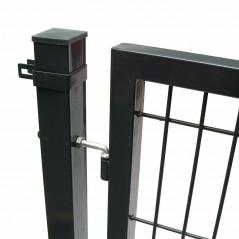 Quadratrohr Doppelstabmatten Gartentor 100x100cm-11