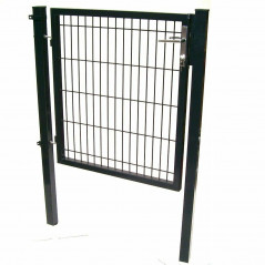 Quadratrohr Doppelstabmatten Gartentor 100x100cm-15