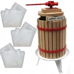 Maischepresse 18 Liter + 3x Pressnetze-3