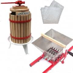 12 Liter Obstpresse + Obstmühle 7 Liter-1