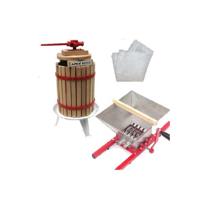 12 Liter Obstpresse + Obstmühle 7 Liter