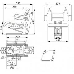 Traktorsitz OE102 gefedert-3