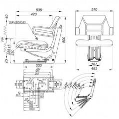 Traktorsitz OE110 gefedert-3