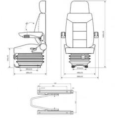 Traktorsitz mit Federung-3