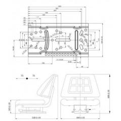 Traktorsitz inkl. Rückenlehne und Längseinstellung-3