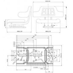 Traktorsitz inkl. Rückenlehne, Armlehne und Längseinstellung-3