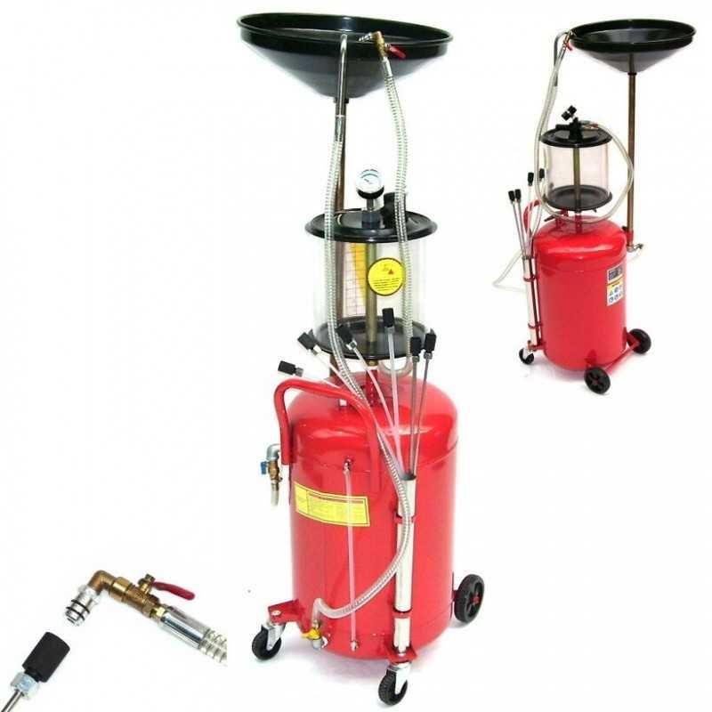 Druckluft Ölauffanggerät 2in1 68L