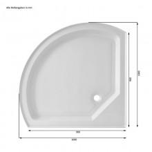 Dampfdusche Black Pearl (Cr) 100x100 cm-15