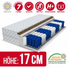 Matratze 140x200 - EUROPA KOKOS PREMIUM 9 Zonen H3/H4 - 17cm-1