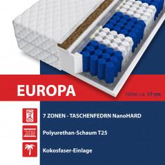 Matratze 140x200 - EUROPA KOKOS PREMIUM 9 Zonen H3/H4 - 17cm-3