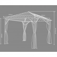 Pavillon Gartenliege Azur-19