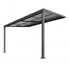 Terrassenüberdachung Deluxe 400x300x218/272cm (grau)-3