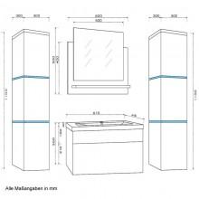 Badmöbel Wangerooge XL - Grau (HB)-3
