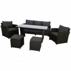 Lounge Set *Norderney* schwarz-1