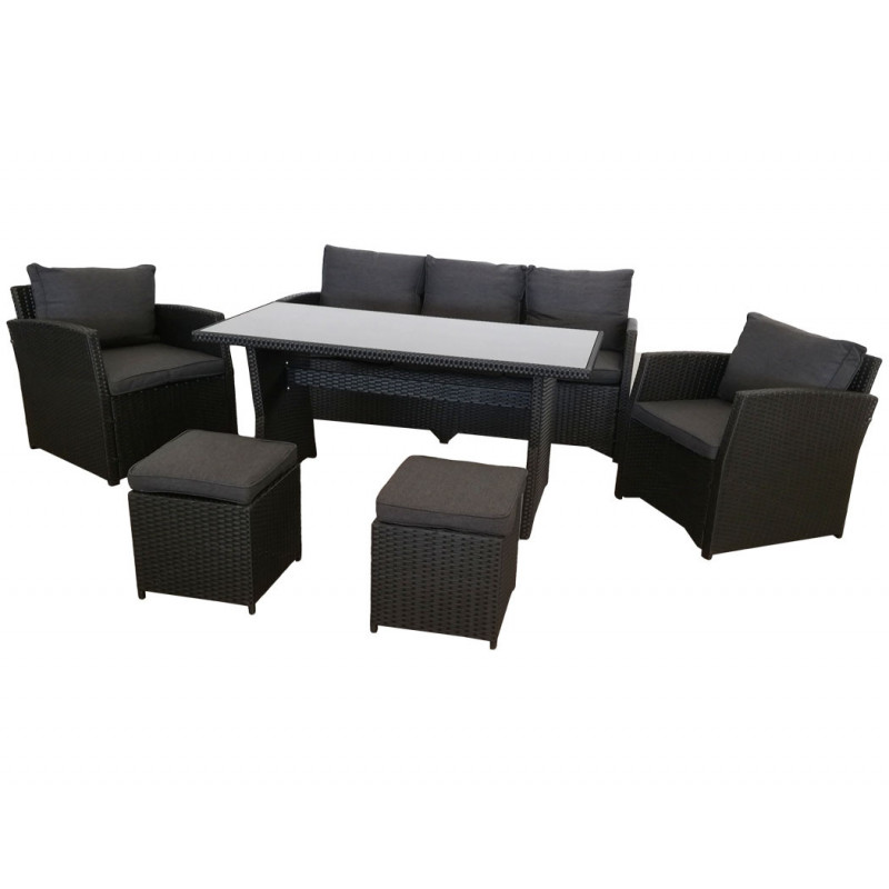 Lounge Set *Norderney* schwarz
