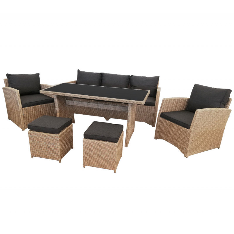 Lounge Set *Norderney* natur-braun