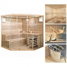 Traditionelle Sauna Skyline XL BIG-3