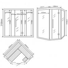 Traditionelle Sauna Skyline XL BIG-13